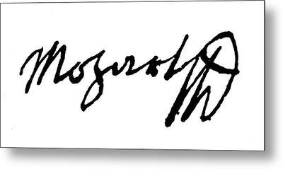 Mozart Autograph Metal Print