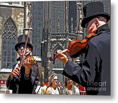 Metal Print featuring the photograph Mozart In Masquerade by Ann Horn