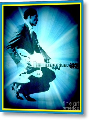Mr Chuck Berry Blueberry Hill Style Edited 2 Metal Print by Kelly Awad
