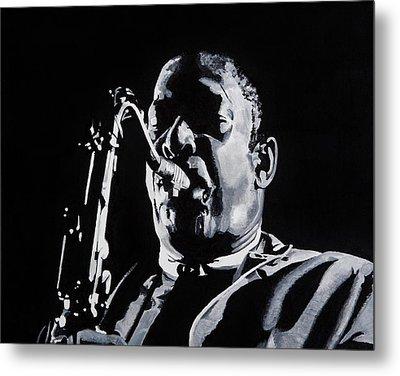 Mr Coltrane Metal Print by Brian Broadway