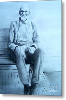 Metal Print featuring the drawing Mr. Higgs by Mary Lynne Powers