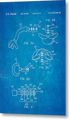 Mr Potato Head 2 Patent Art 2001 Blueprint Metal Print by Ian Monk