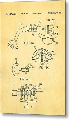 Mr Potato Head 2 Patent Art 2001 Metal Print by Ian Monk