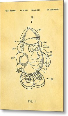 Mr Potato Head Patent Art 2001 Metal Print by Ian Monk