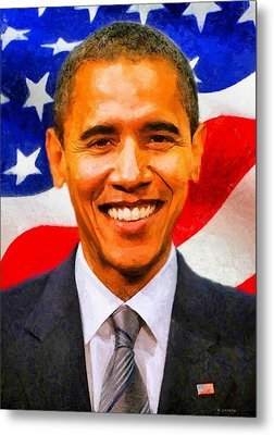 Mr. President Metal Print by Kai Saarto