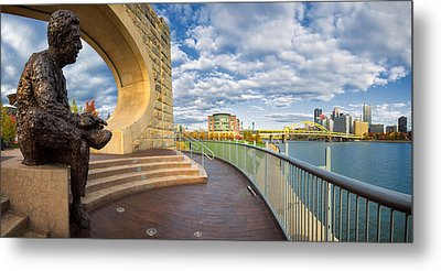 Mr Rogers Statue In Pittsburgh Metal Print by Emmanuel Panagiotakis