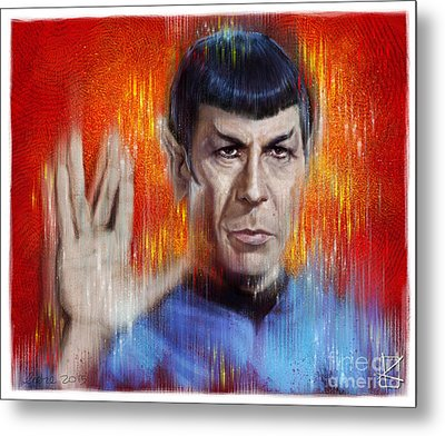 Mr Spock Metal Print
