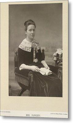 Mrs Fawcett Metal Print