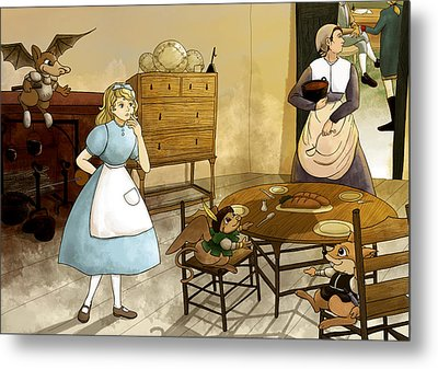 Mrs. Gage's Kitchen Metal Print