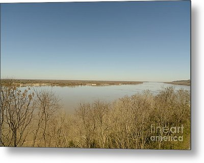Ms River In Winter Metal Print by Russell Christie