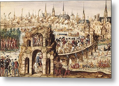 Ms Y 28. Relation De Lentr�e De Henri Metal Print by Everett