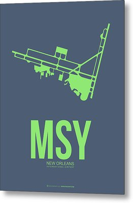 Msy New Orleans Airport Poster 2 Metal Print