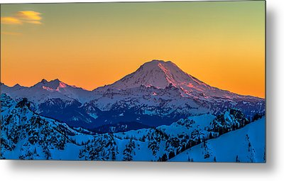 Mt Adams Sunset Review-2 Metal Print