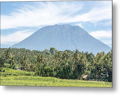 Mt Agung Metal Print
