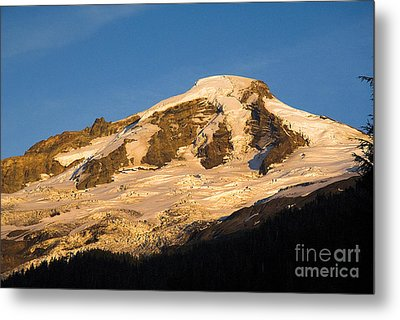 Metal Print featuring the photograph Mt.baker At Sunset  by Yulia Kazansky