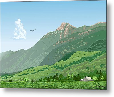 Mt Cheam In Summer Metal Print by Artellus Artworks