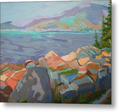 Mt. Desert From Schoodic Point Metal Print