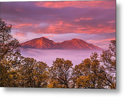 Mt Diablo In The Early Morning Light Metal Print by Marc Crumpler