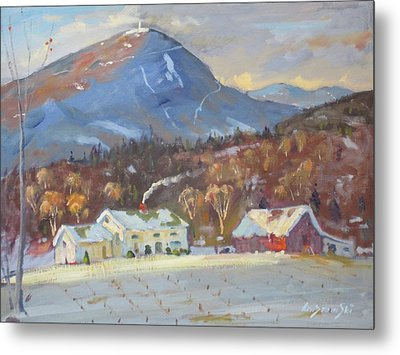 Metal Print featuring the painting Mt Greylock From East Harbor Road by Len Stomski