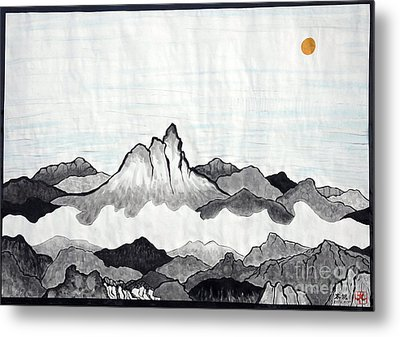 Mt. Himang Metal Print by Taikan Nishimoto