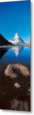 Mt Matterhorn & Riffel Lake Switzerland Metal Print by Panoramic Images