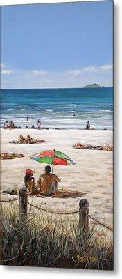 Mt Maunganui Beach 090209 Metal Print by Sylvia Kula