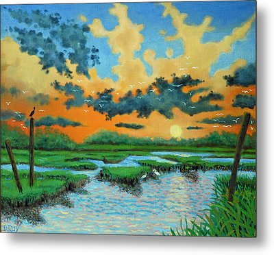Mt. Pleasant Sunset Metal Print by Dwain Ray