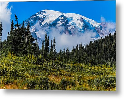 Metal Print featuring the photograph Mt. Rainier by Chris McKenna