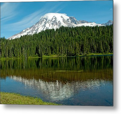 Metal Print featuring the photograph Mt. Rainier II by Tikvah's Hope