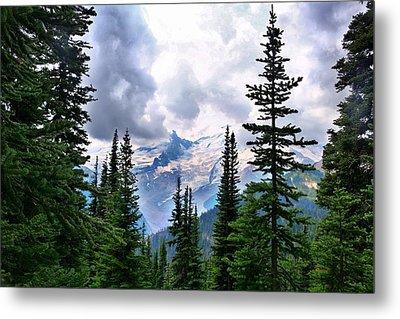Metal Print featuring the photograph Mt Rainier by Lynn Hopwood