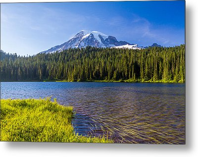 Mt Rainier Viewpoint Metal Print