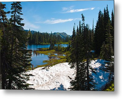 Metal Print featuring the photograph Mt. Rainier Wilderness by Tikvah's Hope