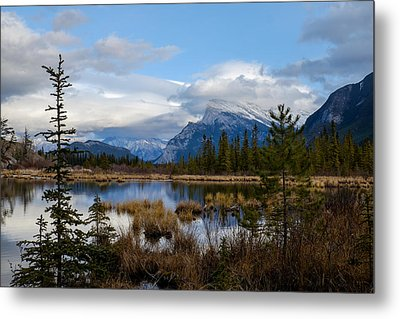 Mt Rundel Over The Lake Metal Print
