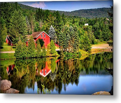 Mt. Snow In Summer Metal Print by Mitchell R Grosky