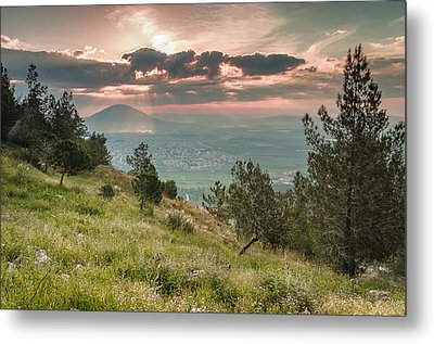 Mt. Tabor From Mt. Of Precipice Metal Print by Sergey Simanovsky
