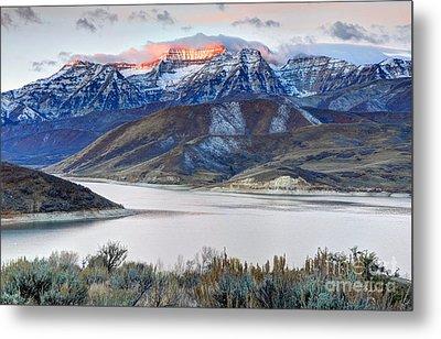 Mt. Timpanogos Winter Sunrise Metal Print
