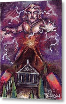 Mt. Vesuvius - Jupiter's Fury Metal Print by Samantha Geernaert