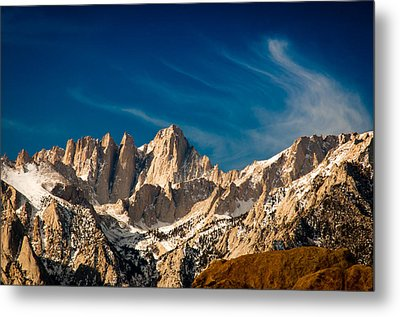 Mt Whitney On A Winter Day Metal Print by Janis Knight