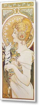 Mucha Feather, 1899 Metal Print by Granger