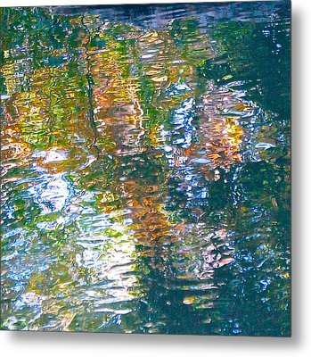 Mud Creek Reflection Metal Print