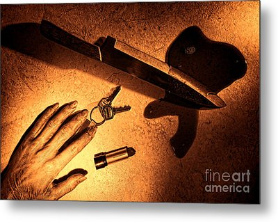Mugging Metal Print by Olivier Le Queinec
