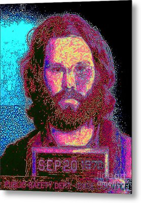 Mugshot Jim Morrison 20130329 Metal Print by Wingsdomain Art and Photography
