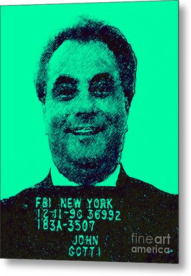 Mugshot John Gotti P128 Metal Print by Wingsdomain Art and Photography