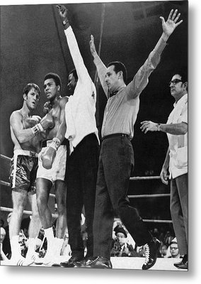 Muhammad Ali And Jerry Quarry Metal Print by Underwood Archives