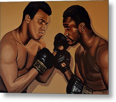 Muhammad Ali And Joe Frazier Metal Print by Paul Meijering