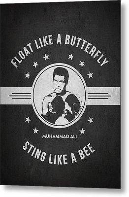 Muhammad Ali - Dark Metal Print by Aged Pixel