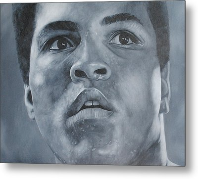 Metal Print featuring the painting Muhammad Ali by David Dunne