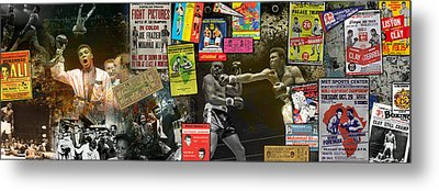 Muhammad Ali Panoramic Metal Print by Retro Images Archive