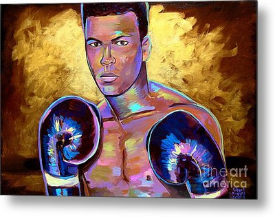 Metal Print featuring the painting Muhammad Ali by Robert Phelps