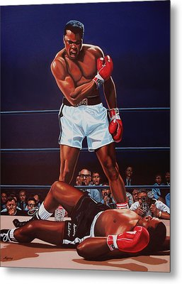Muhammad Ali Versus Sonny Liston Metal Print